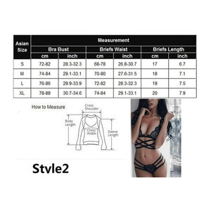Women Lace See Though Lingerie Nightwear Underwear G-string Babydoll Sleepwear