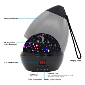 [ Newest Vision ]Star Light Rotating Projector, MOKOQI Night Lighting Star Moon Projection Lamp 4 LED Bulbs 4...