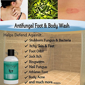 SHIP BY USPS - #1 Best Seller - Antifungal Soap with Tea Tree Oil, Helps Treat & Wash Away Athletes Foot, Ringworm, Nail Fungus, Jock Itch,...