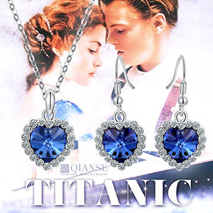 """Heart of Ocean Titanic Jewelry Set Made with Swarovski Crystals - Eternal Classic!"