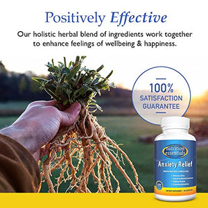 SHIP BY USPS Nutrition Essentials Anxiety Relief 60 capsules | Natural Anxiety Supplement | Best Treatment for Reducing Stress & Improving...