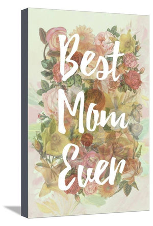 Best Mom Ever Stretched Canvas Print 19 x 13 in