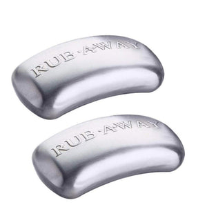 Amco 5228591 Rub-a-Way Bar Stainless Steel Odor Absorber, 2 Pack