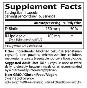 [2 Bottles] Doctor's Best Stabilized R-Lipoic Acid with BioEnhanced Na-RALA , Non-GMO, Gluten Free, Vegan, Helps Maintain...
