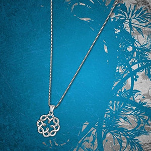 SHIP BY USPS: 925 Sterling Silver Irish Infinity Endless Love Celtic Knot Vintage Pendant Necklace, Box Chain 18""