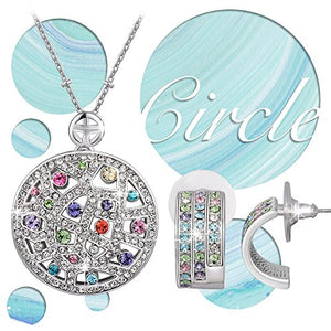 "SHIP BY USPS: QIANSE ""Wonderful Life"" Multicolor Jewelry Set Made with Austrian Crystals - Wish you a colorful life!"