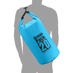 Waterproof Dry Bag 20L/10L/5L, Dry Sack with Detachable and Adjustable Shoulder Strap, Perfect for Boating/ Kayaking/ Fishing/ Beach/ Swimming/ Camping/ Floating/ Rafting/Canoeing /Snowboarding