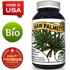 Pure Saw Palmetto Supplement for Prostate + Urinary Health – Prostate Care Capsules with Hair Loss Benefits...
