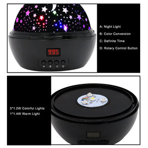 Night Lights for Kids, SCOPOW Colorful Constellation Star Sky Kids Night Lamp with LED Timer, Auto-Shut Off and 360...
