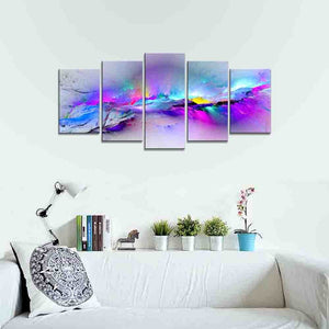 Art - Changing Colors Giclee Canvas Prints 5 panels Modern Artwork Landscape Pictures to Photo Printed on Abstract Canvas Wall Art for Home Decorations and Wall Decor 5pcs/set P5RAB023