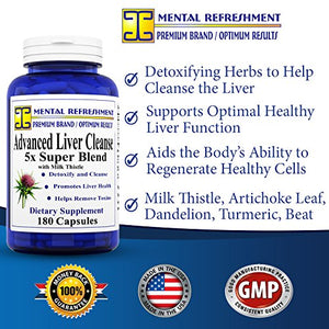 SHIP BY USPS: Advanced Liver Support - Maximum Strength w/ Milk Thistle (180 Caps)