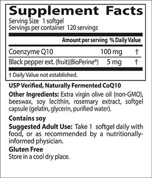 [2 Bottles] Doctor's Best High Absorption CoQ10 with BioPerine, Gluten Free, Naturally Fermented, Heart Health, Energy...