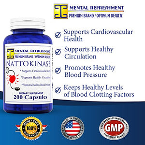 SHIP BY USPS: Nattokinase 200 mg, 200 capsules - Best for Maintaining a Healthy Heart, Natural...