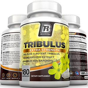 SHIP BY USPS BRI Nutrition Tribulus Terrestris - 180 Capsules 45% Steroidal Saponins - Highest Purity On The Market - 1500mg...