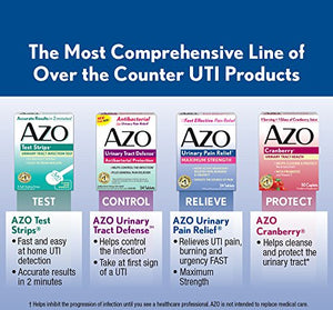 [2 Bottles] AZO Cranberry Urinary Tract Health Dietary Supplement* – 1 Serving = 1 Glass of Cranberry Juice^ - Helps Maintain...