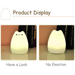 SCOPOW Portable Silicone LED Smile Night Light For Kids [ USB Rechargeable, Warm / White Light, 7-Color Breathing...