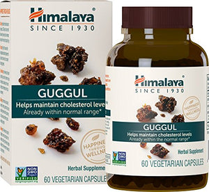 SHIP BY USPS: Himalaya Guggul 60 Vcaps for Cholesterol Support, 750 mg