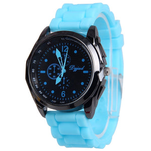 Wholesale 8 Assorted Pack Unisex Silicone Watch Men Women Black Case