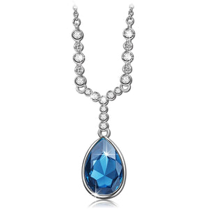"""Angel Tears"" Pendant Necklace Made with Swarovski Crystals - Classic and Charming!"