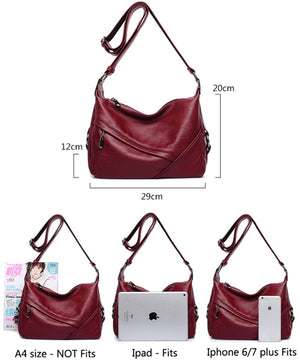 Women's Retro Sling Shoulder Bag from Covelin, Leather Crossbody Tote Handbag