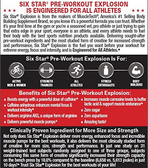 [2 Bottles] Six Star Explosion Pre Workout Explosion, Powerful Pre Workout Powder with Extreme Energy, Focus and Intensity, Icy...