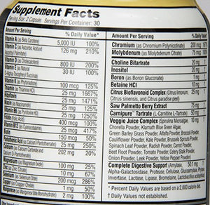 [Pack of 2] Labrada Nutrition Lean Body Men's Food Based Multi-Vitamin, 60 Count Each