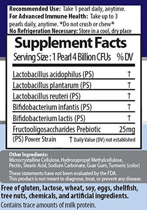 SHIP BY USPS 60 Day Supply – Earth's Pearl Probiotic & Prebiotic – 15X More Effective Than Capsules – Advanced Digestive...