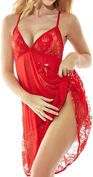 Womens Babydoll Lingerie Set Plus Size Sleepwear