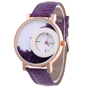 10-Pack Wholesales Women's Leather Watch Quicksand Bracelet Ladies Dress