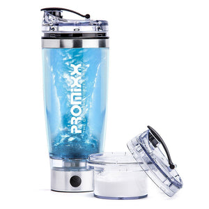 PROMiXX 2.0 – The World's Best Vortex Mixer / Blender / Shaker Bottle with X-blade Technology and Integrated Protein Storage Container. 16000rpm Lithium-ion battery. USB Rechargeable. 100% Leak-proof Guarantee. BPA-free. 600ml / 20oz