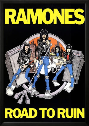Ramones Road to Ruin Music Poster Print Lamina Framed Poster - 37.75 x 25.75in