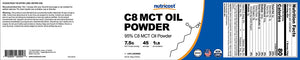 [1LB (16oz)] Nutricost C8 MCT Oil Powder 1LB (16oz) - 95% C8 MCT Oil Powder