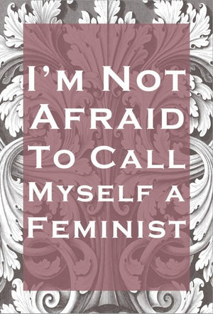 Not Afraid To Call Myself A Feminist Stretched Canvas Print 19 x 13 in