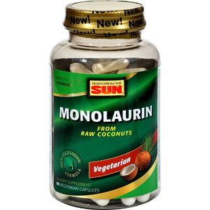 [Pack of 3 Bottles] Health From The Sun Monolaurin, 90 Veg Capsules Each