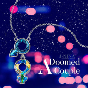 """Doomed"" Romantic Design Woman Pendant Necklace, Made with Latest Cutting Swarovski Crystals"
