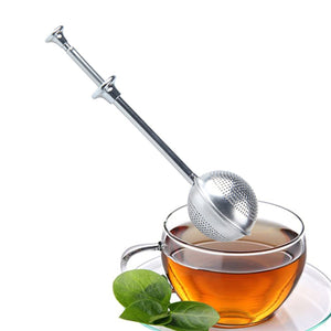 Stainless Steel Tea Infuser Gift Set, Strainer & Steeper Bundle Includes Drip Trays (Push-Open Tea Strainer Balls)