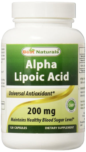 [Pack of 2] Best Naturals Alpha Lipoic Acid 200 Mg 120 Capsules Each