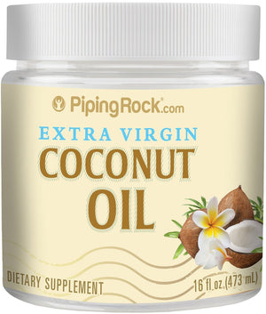 [Pack of 2] Piping Rock Organic Extra Virgin Coconut Oil Solid 16 oz Each