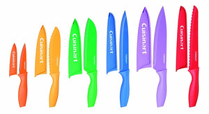 Cuisinart C55-01-12PCKS {6 knives and 6 knife covers} Advantage Color Collection 12-Piece Knife Set, Multicolor