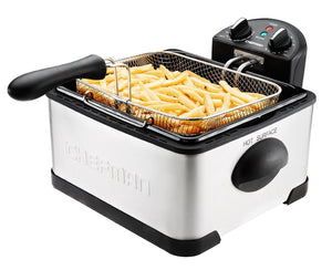 Chefman Deep Fryer with Basket Strainer Perfect for Chicken, Shrimp, French Fries and More, Removable Oil Container and Rotary Knob for Adjusting the Temperature - RJ07-4DSS-T-CL