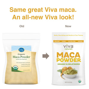 [Pack of 2] Viva Naturals Organic Maca Powder, Gelatinized for Enhanced Bioavailability, Non-GMO, 8oz Bag