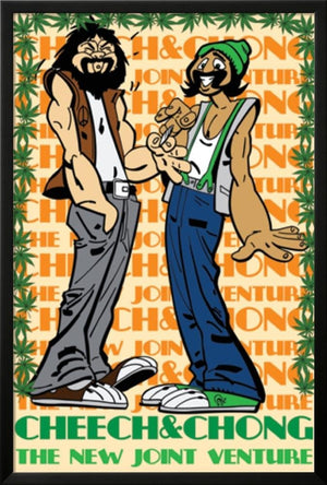 Cheech & Chong- Joint Venture Lamina Framed Poster - 37.75 x 25.75in