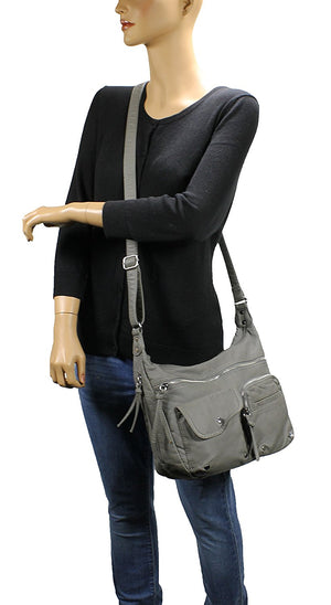 Scarleton Soft Washed Multi Zip Crossbody Bag H1800