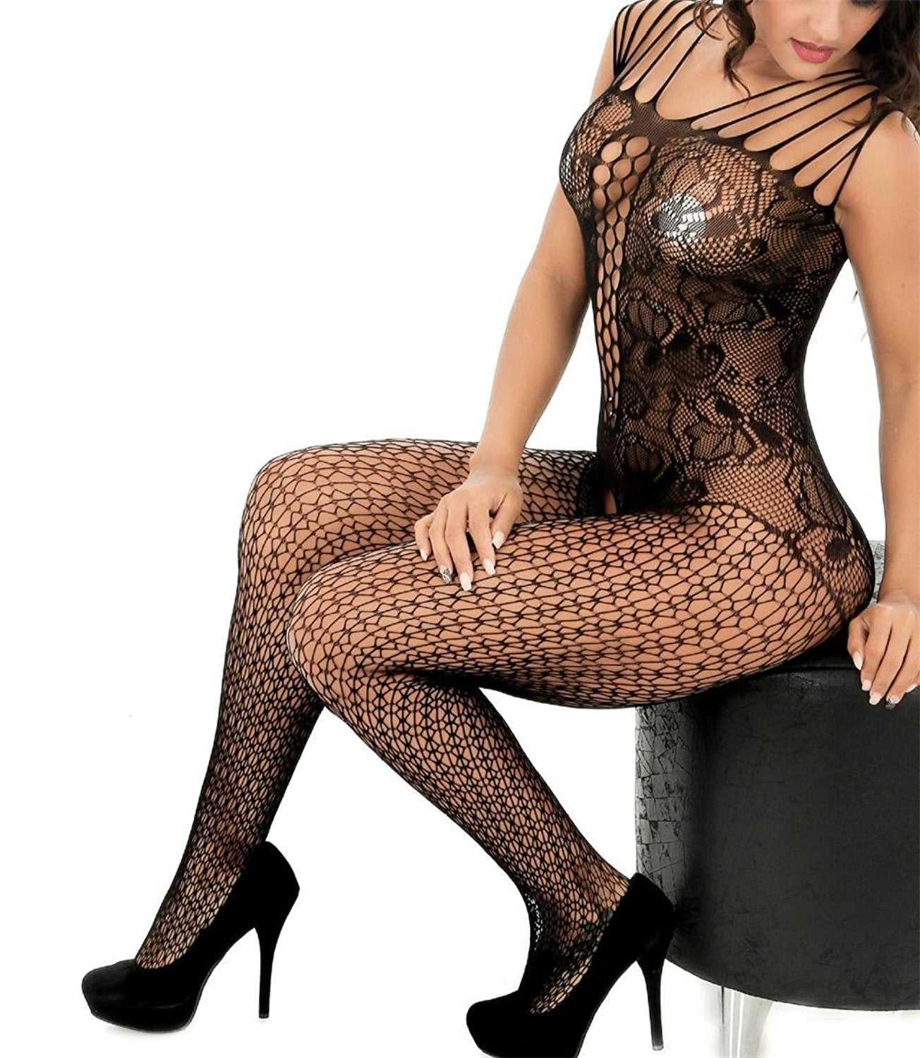 a988dd44182 Curbigals crotchless bodystocking Plus Size Open Crotch Teddy Lingerie for  Women ...