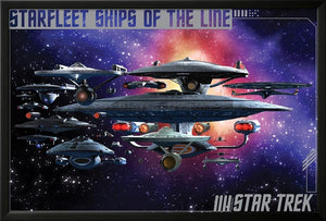 Star Trek- Ships Of The Line Lamina Framed Poster - 25.75 x 37.75in