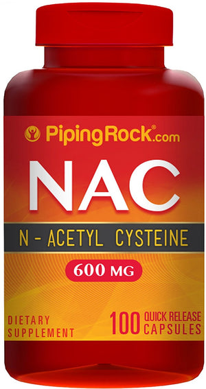 [Pack of 2] N-Acetyl Cysteine NAC 600 mg 100 Quick Release Capsules Dietary Supplement