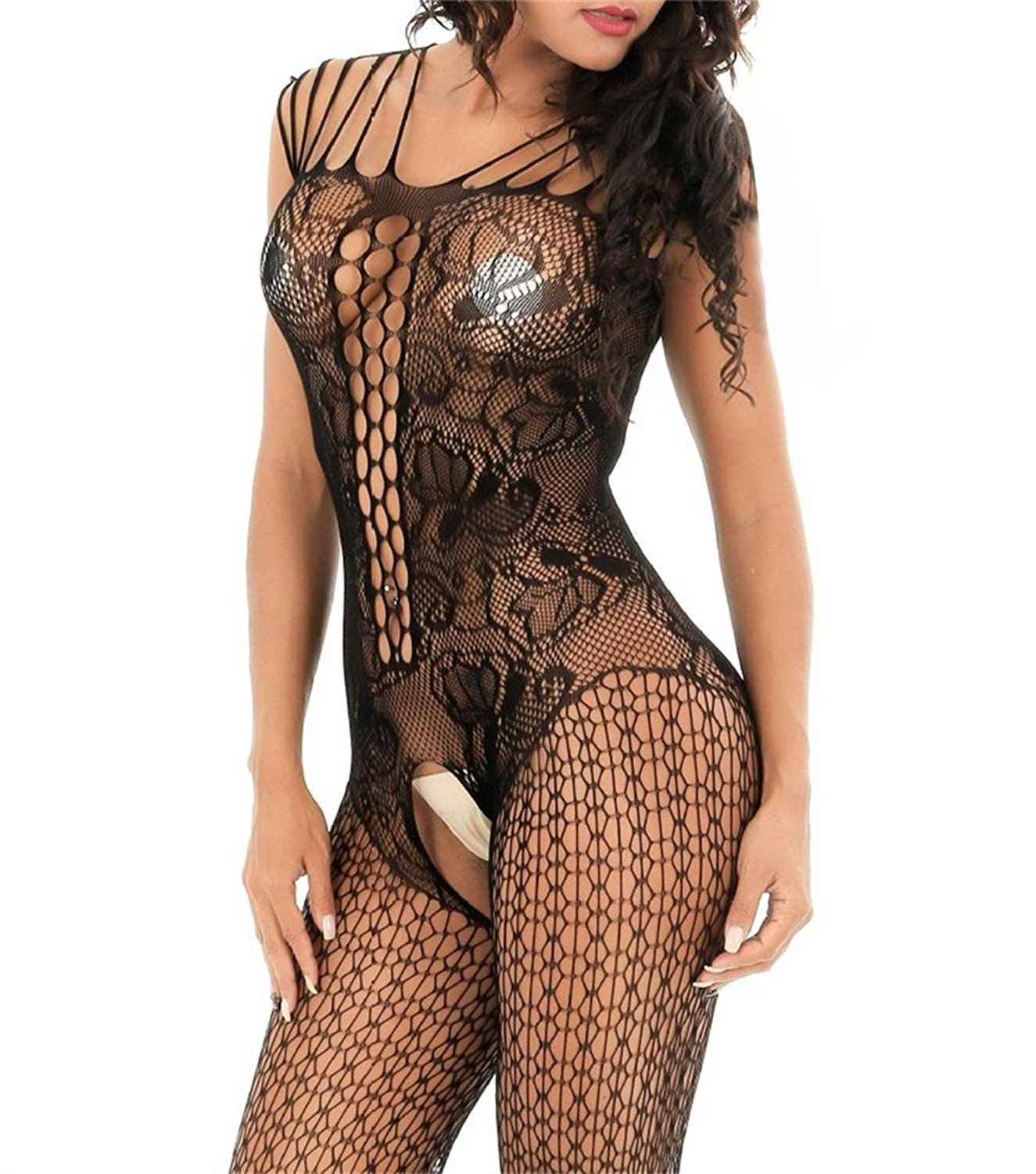 06162114e71 ... Curbigals crotchless bodystocking Plus Size Open Crotch Teddy Lingerie  for Women ...