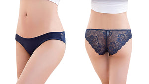Womens Sexy Lace Hipster Panties Pack of 6 Underwear