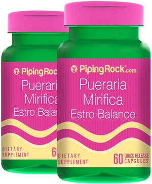 Pueraria Mirifica Estro Balance 100 mg 2 Bottles x 60 Quick Release Capsules Dietary Supplement
