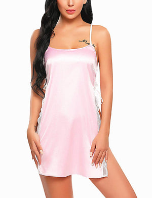 Women Babydoll for Women Satin Nightwear Lace Chemise Sexy Nightgown